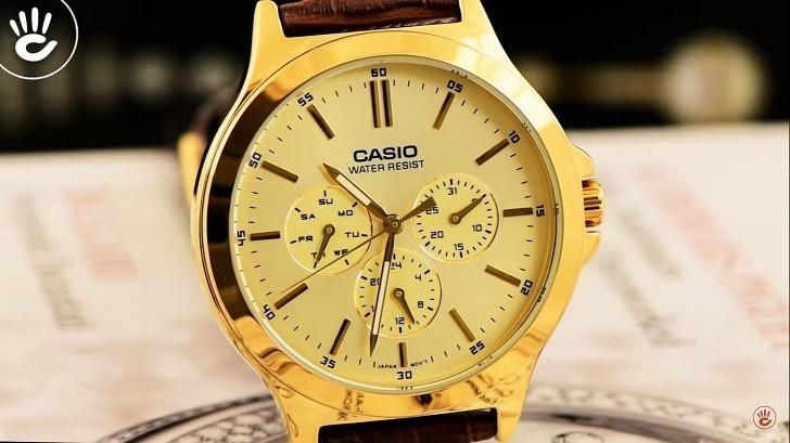 Đồng hồ Casio MTP-V300GL-9AUDF giá rẻ, thay pin miễn phí - Ảnh 4