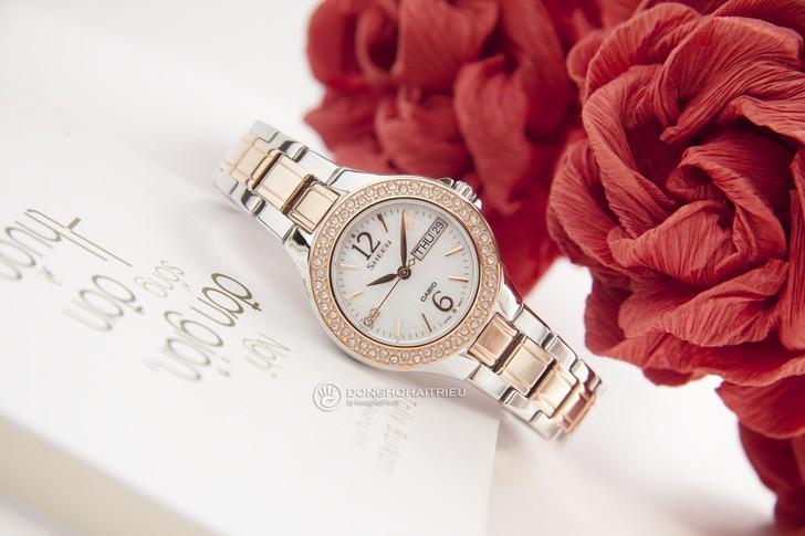 Đồng hồ Casio SHE-4800SG-7AUDR: Hấp dẫn với nét đẹp nữ tính - Ảnh 2