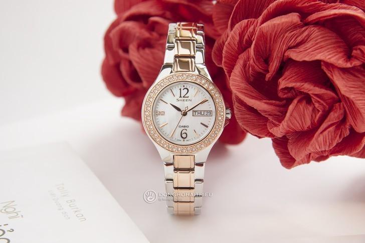 Đồng hồ Casio SHE-4800SG-7AUDR: Hấp dẫn với nét đẹp nữ tính - Ảnh 3