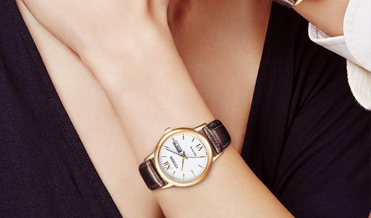 Đồng hồ nữ Citizen EW3252-07A tích hợp bộ máy Eco-Drive - Ảnh 2