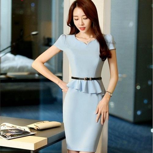 gợi ý muôn kiểu váy liền thân công sở sành điệu nhất 4