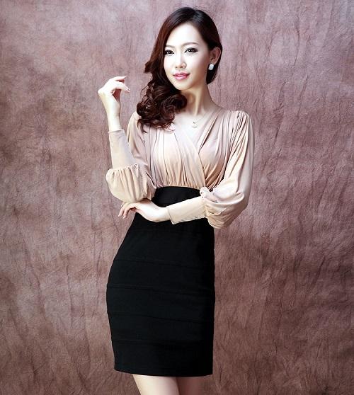 gợi ý muôn kiểu váy liền thân công sở sành điệu nhất 5