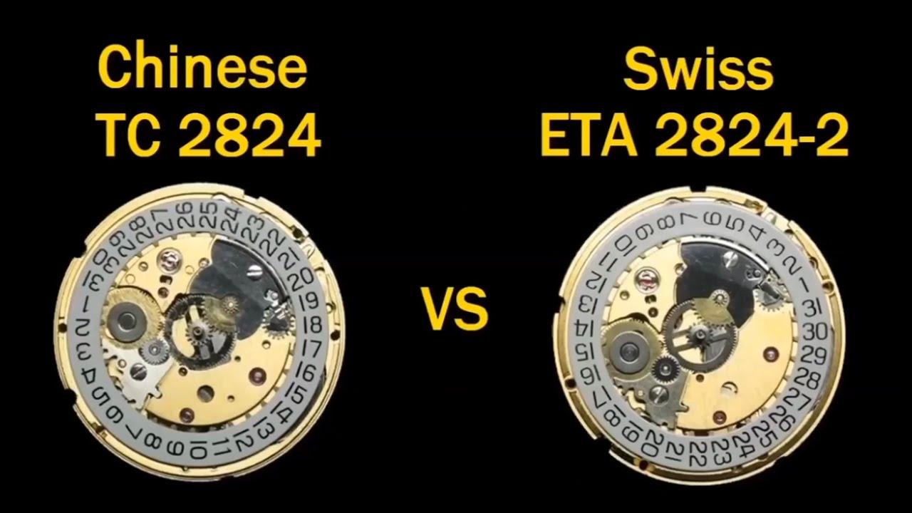 """Máy Đồng Hồ ETA 2824-2, Con Ngựa Thồ Thụy Sĩ Và Các Sản Phẩm """"Copy"""" So Sánh"""