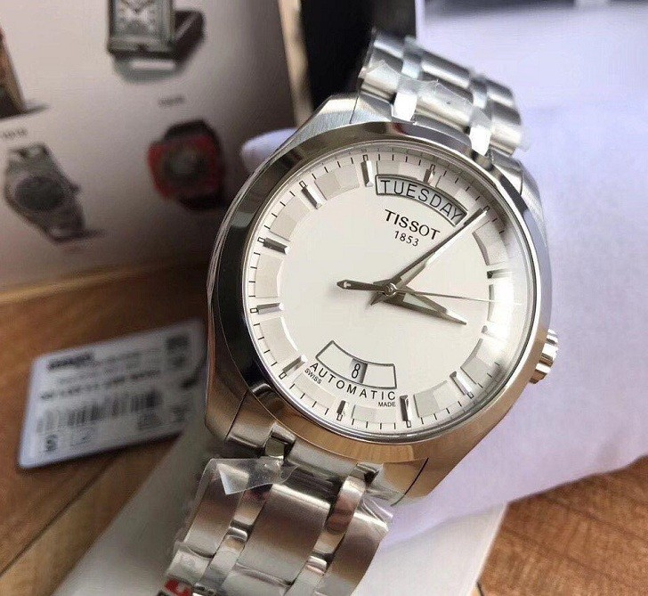 Đồng hồ Tissot T035.407.11.031.00 bộ kim phủ lớp dạ quang - Ảnh 3