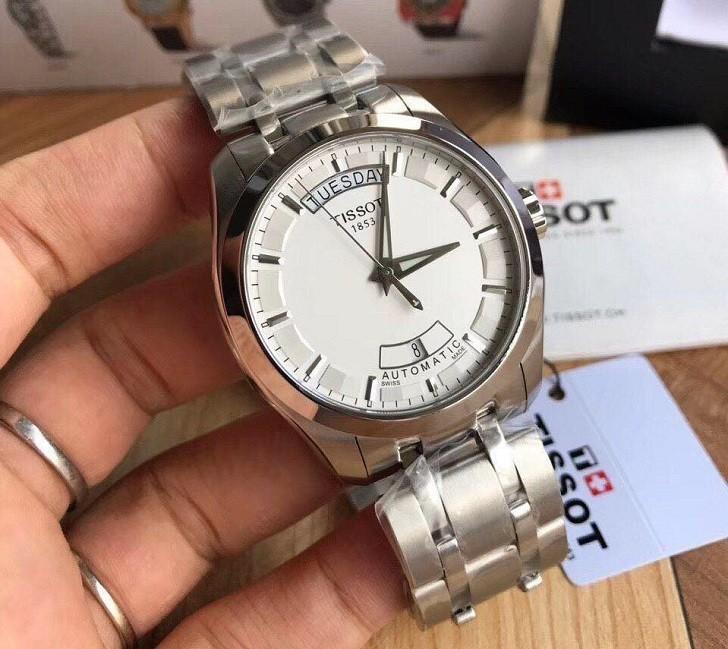 Đồng hồ Tissot T035.407.11.031.00 bộ kim phủ lớp dạ quang - Ảnh 6