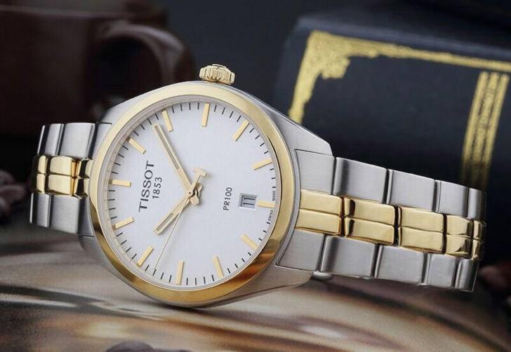 Đồng hồ nam Tissot T101.410.22.031.00 mạ vàng sang trọng - Ảnh 3