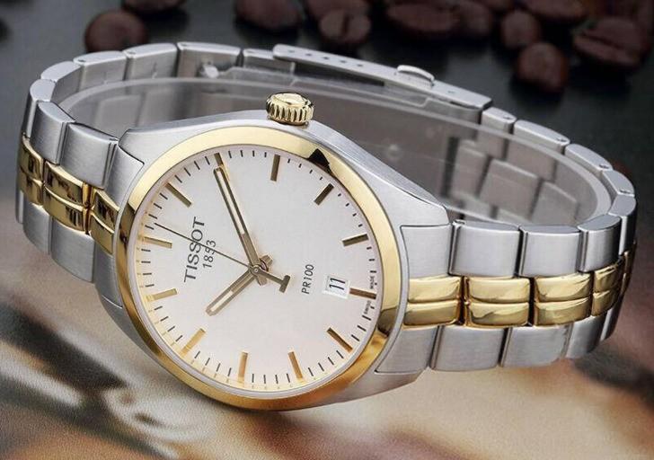 Đồng hồ nam Tissot T101.410.22.031.00 mạ vàng sang trọng - Ảnh 1