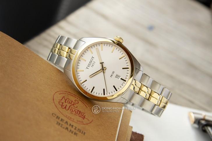 Đồng hồ nam Tissot T101.410.22.031.00 mạ vàng sang trọng - Ảnh 2