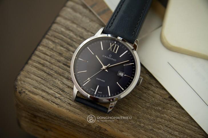 Đồng hồ nam Candino C4618/4 tông xanh nổi bật, lịch lãm - Ảnh 1