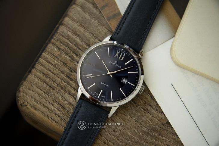 Đồng hồ nam Candino C4618/4 tông xanh nổi bật, lịch lãm - Ảnh 2