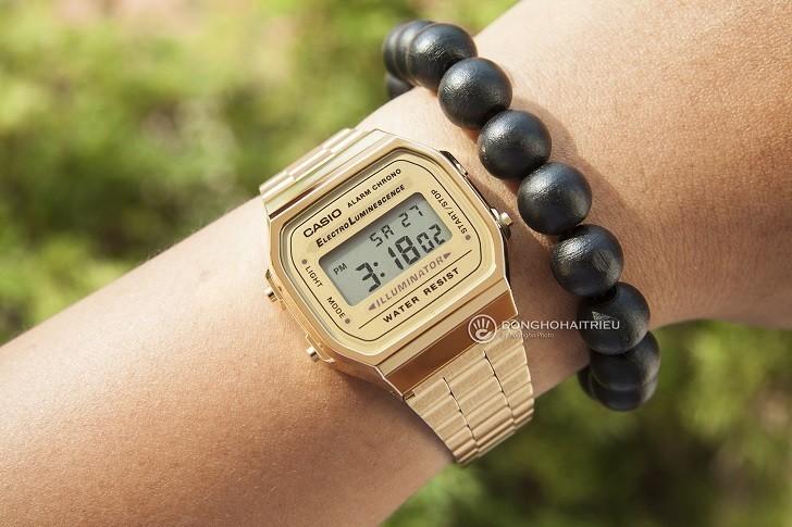 Đồng hồ unisex Casio A168WG-9WDF giá rẻ, thay pin miễn phí - Ảnh 2