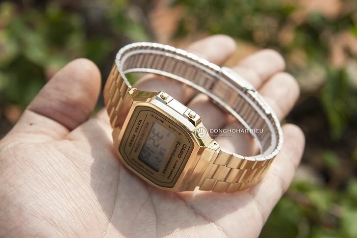 Đồng hồ unisex Casio A168WG-9WDF giá rẻ, thay pin miễn phí - Ảnh 5