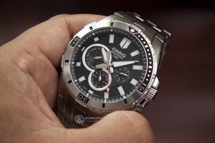 Đồng hồ Casio MTD-1060D-1AVDF phong cách mạnh mẽ nam tính - Ảnh 1