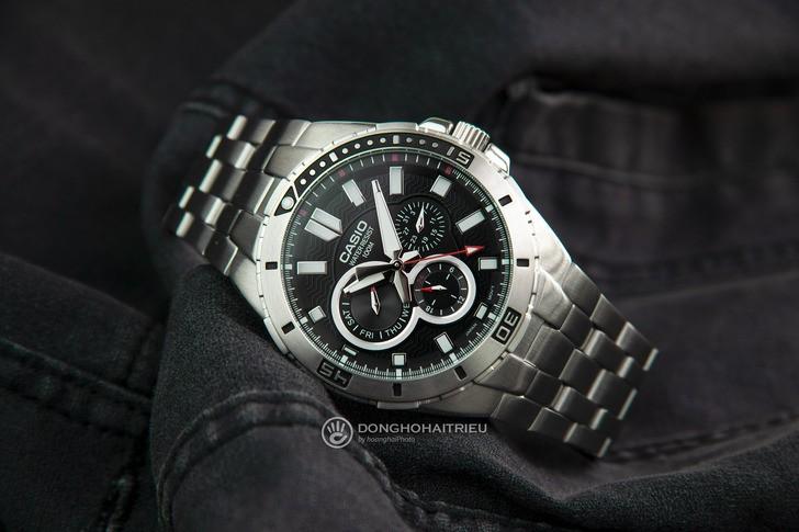 Đồng hồ Casio MTD-1060D-1AVDF phong cách mạnh mẽ nam tính - Ảnh 2
