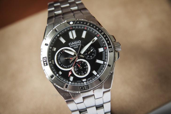 Đồng hồ Casio MTD-1060D-1AVDF phong cách mạnh mẽ nam tính - Ảnh 3