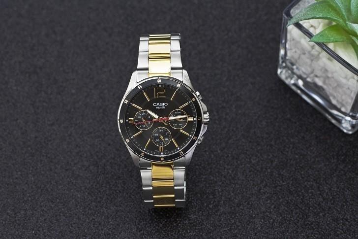 Đồng hồ Casio MTP-1374SG-1AVDF giá rẻ, thay pin miễn phí - Ảnh 1