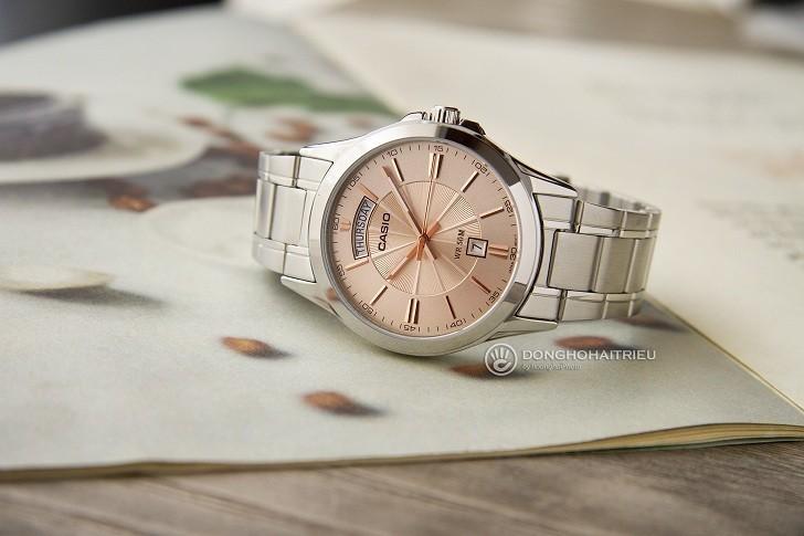 Đồng hồ Casio MTP-1381D-9AVDF giá rẻ, ô lịch lớn đặc biệt - Ảnh: 4