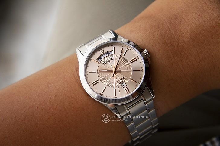 Đồng hồ Casio MTP-1381D-9AVDF giá rẻ, ô lịch lớn đặc biệt - Ảnh: 1