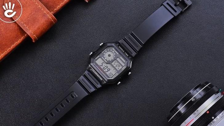 Đồng hồ Casio AE-1200WH-1AVDF giá rẻ, thay pin miễn phí - Ảnh 1