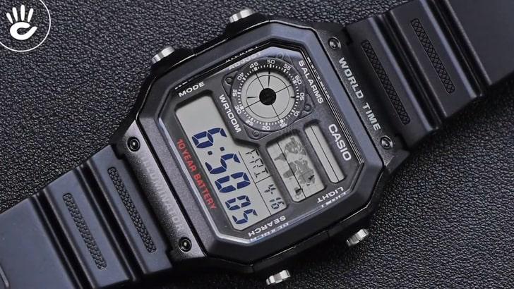 Đồng hồ Casio AE-1200WH-1AVDF giá rẻ, thay pin miễn phí - Ảnh 2