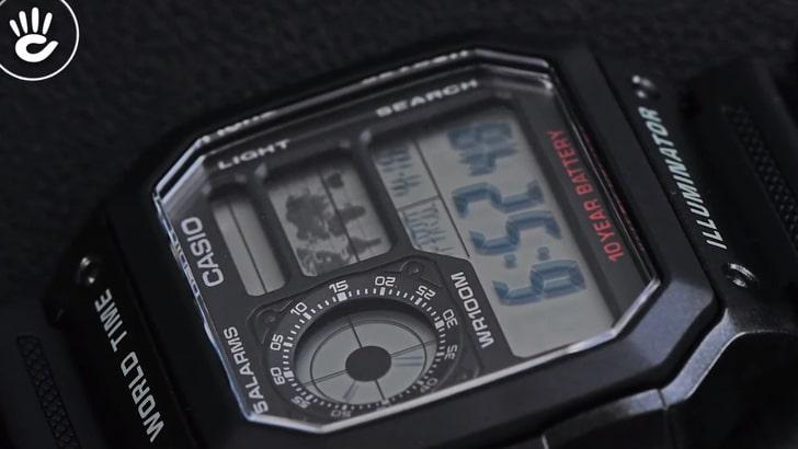 Đồng hồ Casio AE-1200WH-1AVDF giá rẻ, thay pin miễn phí - Ảnh 3