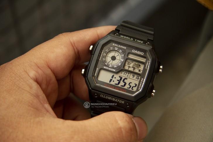 Đồng hồ Casio AE-1200WH-1AVDF giá rẻ, thay pin miễn phí - Ảnh 5