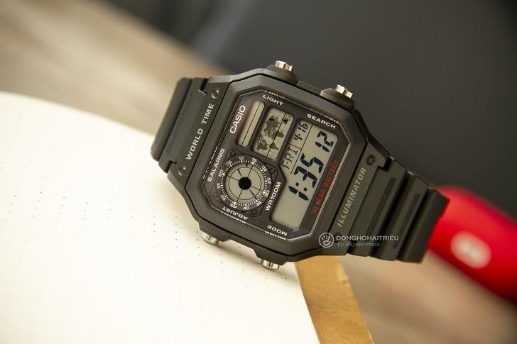 Đồng hồ Casio AE-1200WH-1AVDF giá rẻ, thay pin miễn phí - Ảnh 7