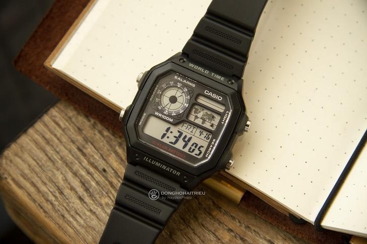 Đồng hồ Casio AE-1200WH-1AVDF giá rẻ, thay pin miễn phí - Ảnh 8