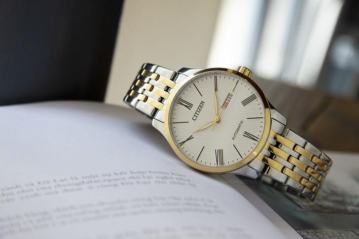 Đồng hồ Citizen NH8354-58A máy cơ, kim phủ dạ quang đẹp mắt - Ảnh: 5