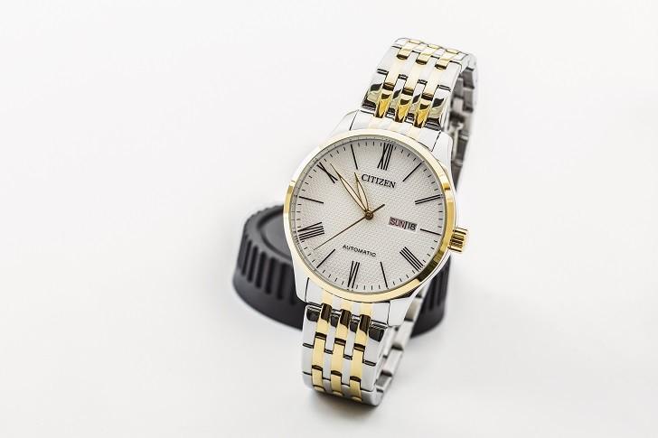 Đồng hồ Citizen NH8354-58A máy cơ, kim phủ dạ quang đẹp mắt - Ảnh: 7