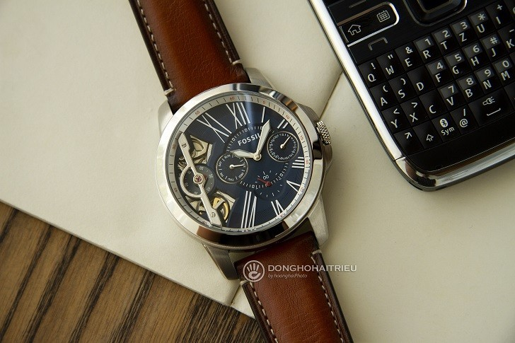 Đồng hồ Fossil ME1161 sự kết hợp giữa máy cơ và máy quartz - Ảnh 1