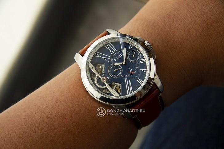 Đồng hồ Fossil ME1161 sự kết hợp giữa máy cơ và máy quartz - Ảnh 4