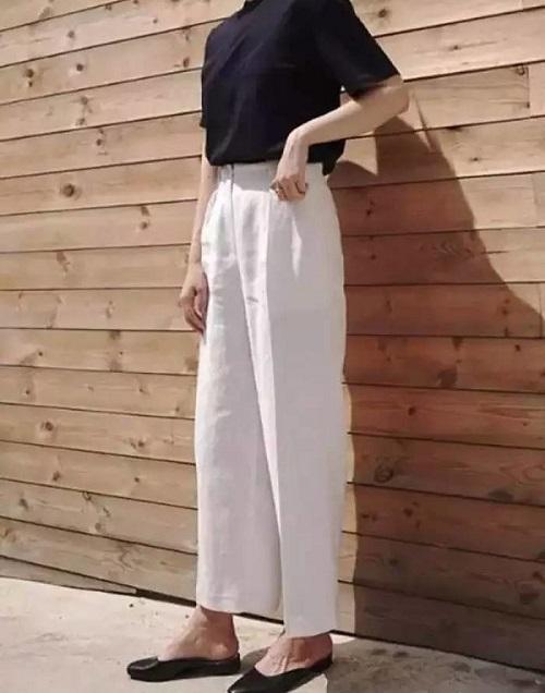 muôn kiểu quần tây công sở nữ lưng cao 4