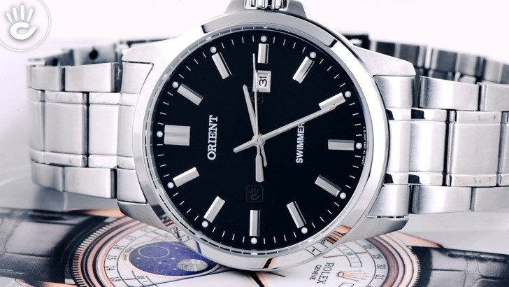 Đồng hồ Orient SUNE5003B0 tông bạc sang trọng, nam tính - Ảnh 3
