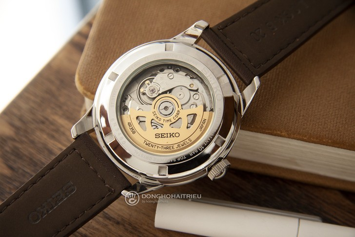 Đồng hồ Seiko SRPB03J1 máy cơ, kính Sapphire chống trầy - Ảnh 5