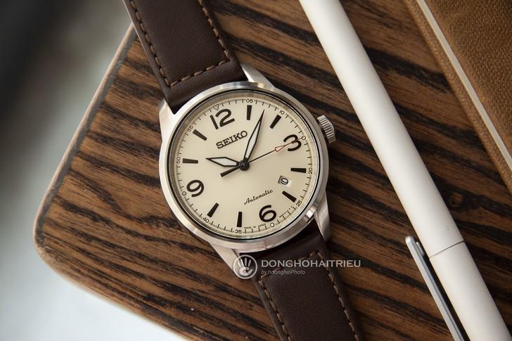 Đồng hồ Seiko SRPB03J1 máy cơ, kính Sapphire chống trầy - Ảnh 6