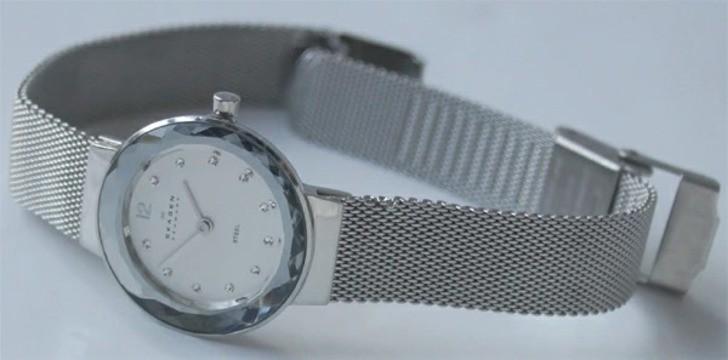 Đồng hồ Skagen 456SSS: Dây đeo dạng lưới, thiết kế nữ tính - Ảnh 2