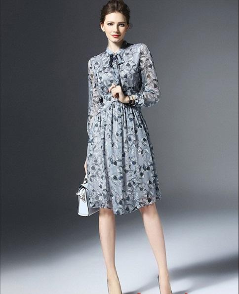 top các mẫu váy voan công sở hot nhất 2