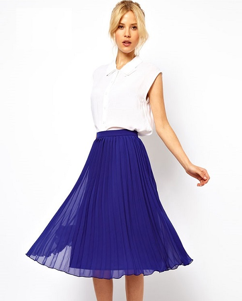 top các mẫu váy voan công sở hot nhất 8