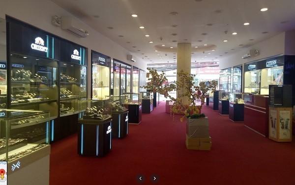 Phong cách trang trí sang trọng bên trong showroom
