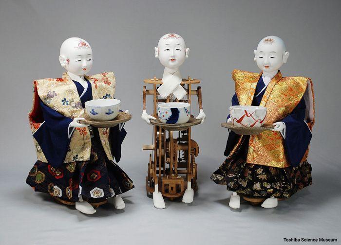 Mannen Jimeishou - Myriad Year Clock, Đồng Hồ Phức Tạp Nhất Nhật Bản Cha-hakobi ningyo