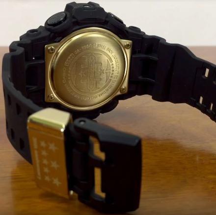 Nổ Tung G-Shock GA-735A-1A Và GA-835A-1A Đen Mờ Khóa Và Nắp Đáy Mạ Vàng