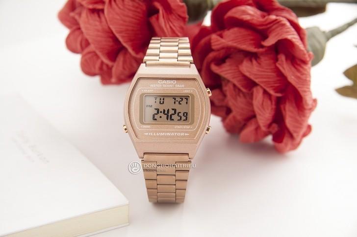 Đồng hồ điện tử Casio B640WC-5ADF mạ vàng hồng, hơn 7 tiện ích - Ảnh: 5
