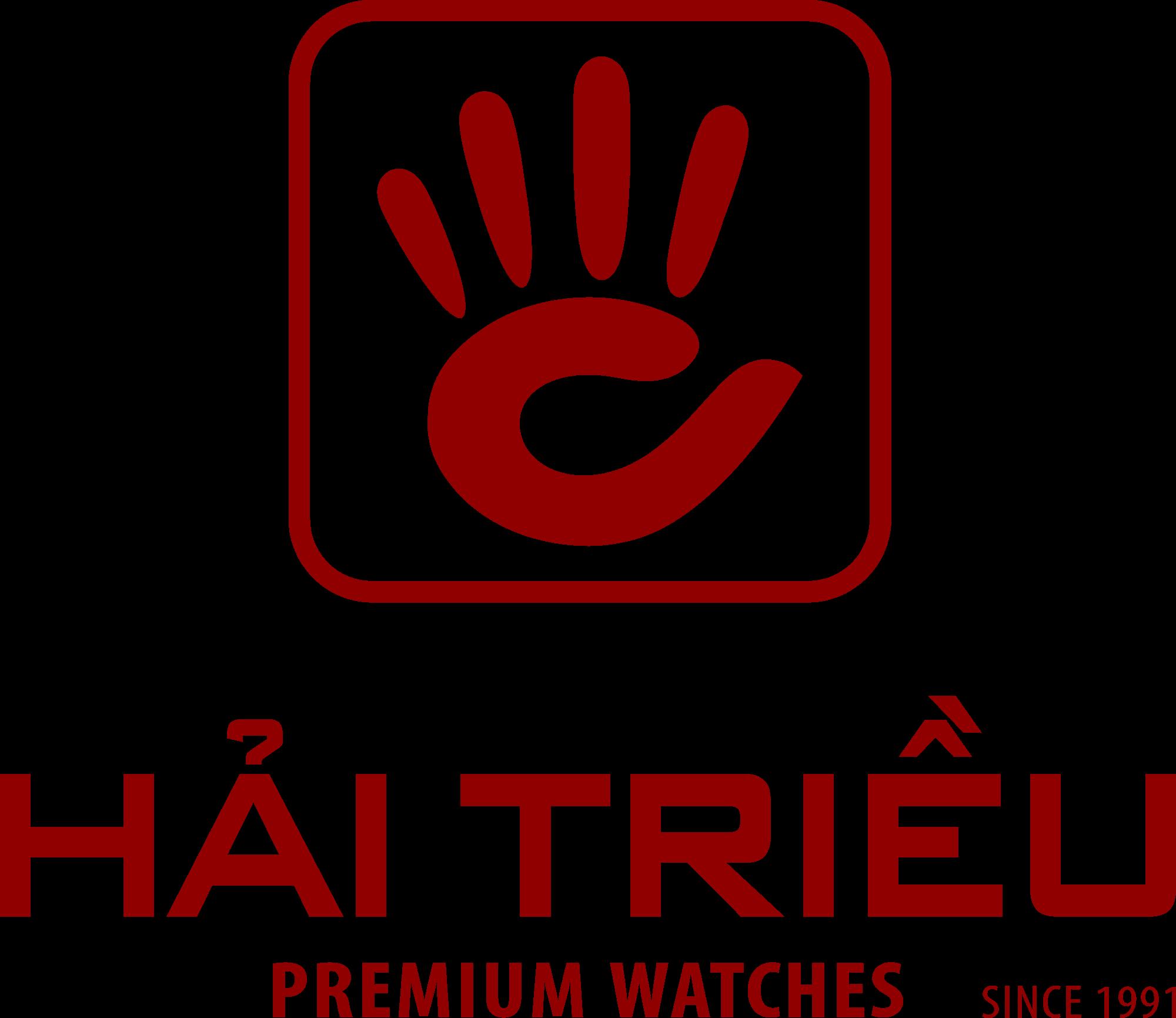 Logo Hình Vuông + Chữ Hải Triều Của Đồng Hồ Hải Triều