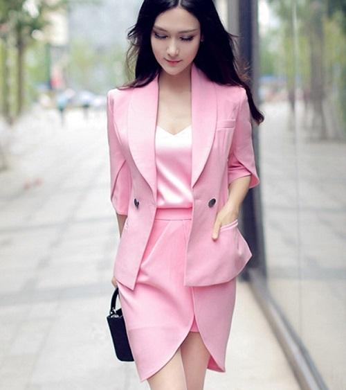 các loại vải dùng cho mãu váy vest công sở đẹp 4
