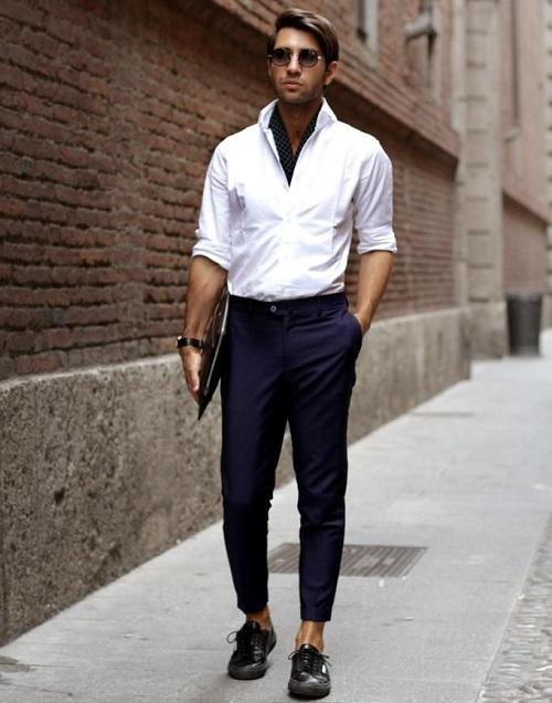cách phối áo sơ mi trắng nam công sở thời trang nhất 3