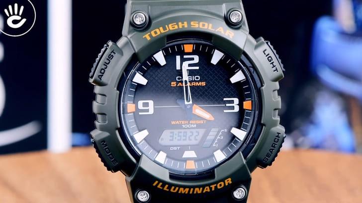 Đồng hồ Casio AQ-S810W-3AVDF năng lượng ánh sáng bền bỉ - Ảnh 3