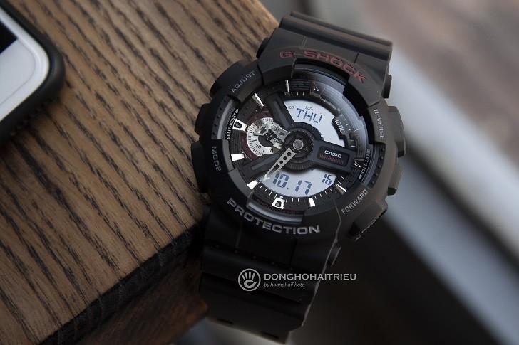 Đồng hồ nam G-Shock GA-110-1ADR giá rẻ, thay pin miễn phí - Ảnh 1