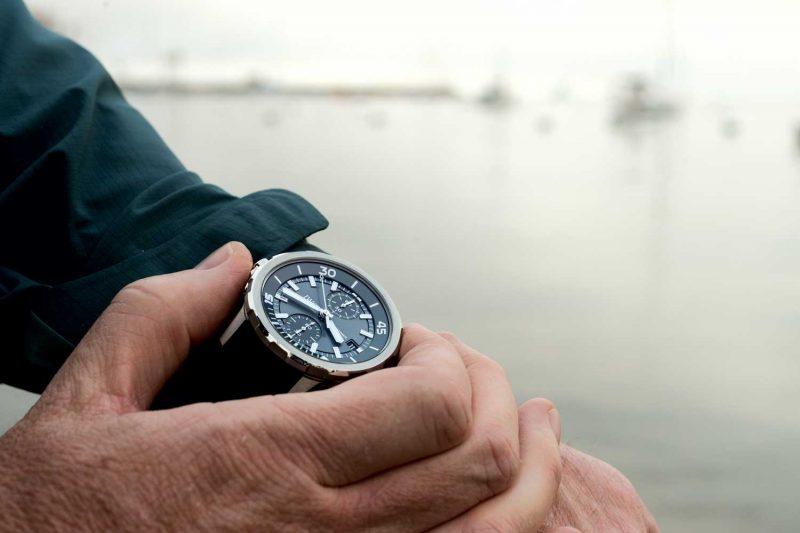 """Lịch Sử Vòng Bezel Xoay Trên Đồng Hồ Lặn Và Công Dụng Ban Đầu IWC Aquatimer Chronograph Edition """"Sharks"""""""