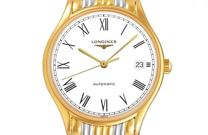 Đồng hồ Longines L4.860.2.11.7 máy cơ, siêu mỏng chỉ 7 mm - Ảnh: 4